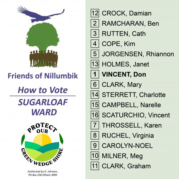 Sugarloaf Ward how to vote card