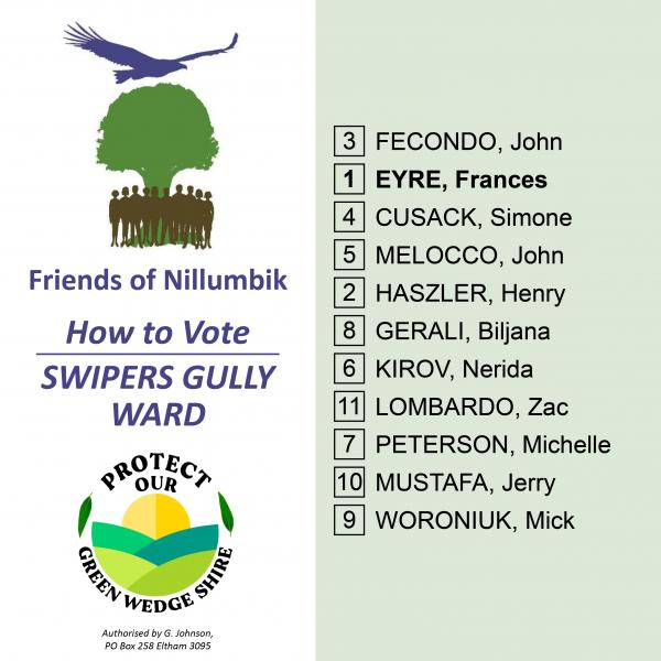 Swipers Gully Ward how to vote card