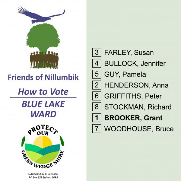 Blue Lake Ward  how to vote card