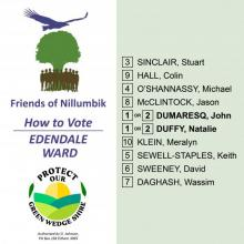 Edendale Ward how to vote card