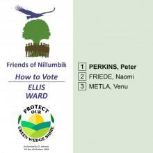 Ellis Ward how to vote card
